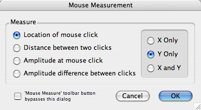 Mouse Measure Options